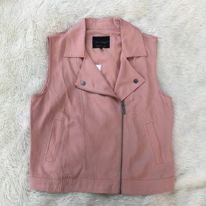 NWT Sanctuary Blush Pink Tencel Moto Vest Medium